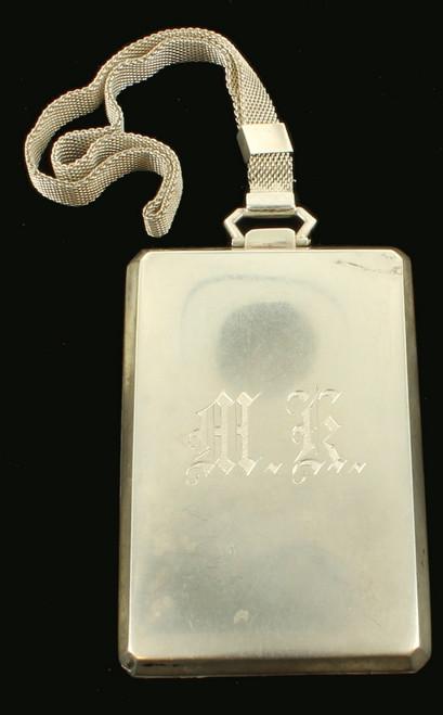 Antique Sterling Miniaudiere Compact Coin Change Purse Slide Mesh Wristlet