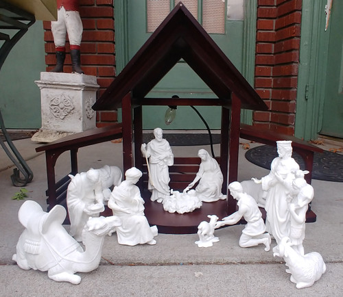 Lenox The Nativity Collection with Boxes 13 Pc Holy Family 3 Kings Animals Creche Porcelain 1988