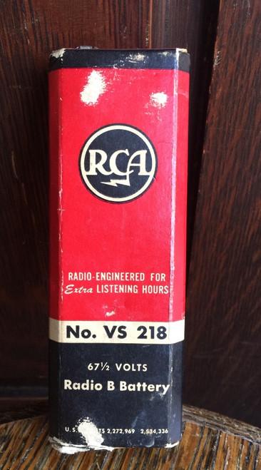 Vintage RCA Victor Radio B Battery 67 1/2 Volt  No. VS 218 Model Replacement