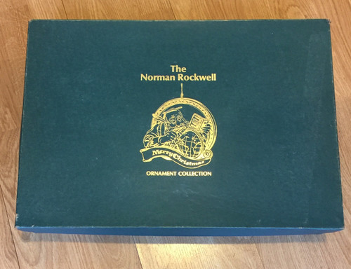 Vintage Norman Rockwell Merry Christmas Ornament Set 25 Box Excellent Condition