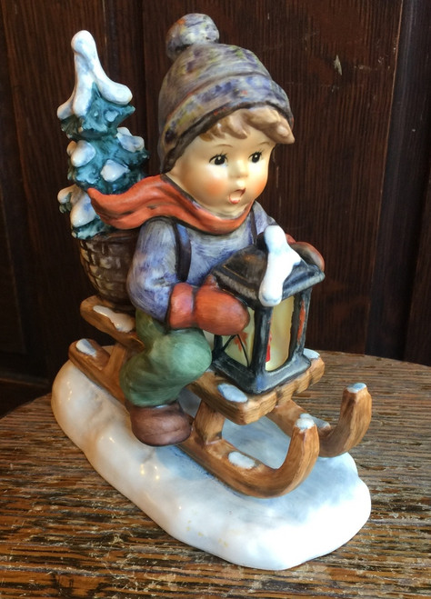 Hummel Figurine Ride Into Christmas #396 TMK 6 Goebel Excellent Condition! Big!