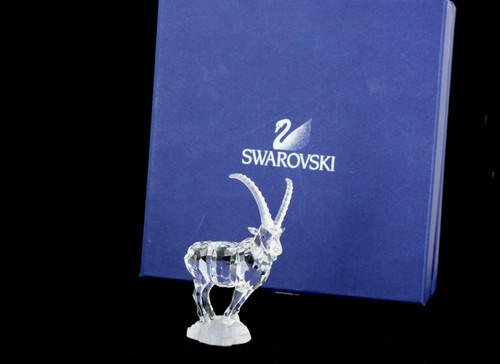 NIB Swarovski Crystal Ibex Retired 2004 Mint Endangered Species Figurine
