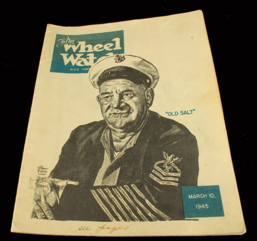 Vintage 1945 The Wheel Watch US Navy Cape May NJ WWII Press Magazine Publication
