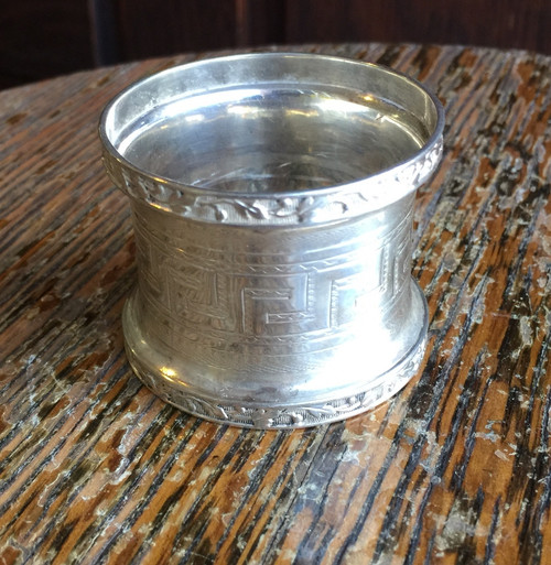 Antique Victorian Sterling Silver Ornate Chased Engraved Napkin Ring ABE