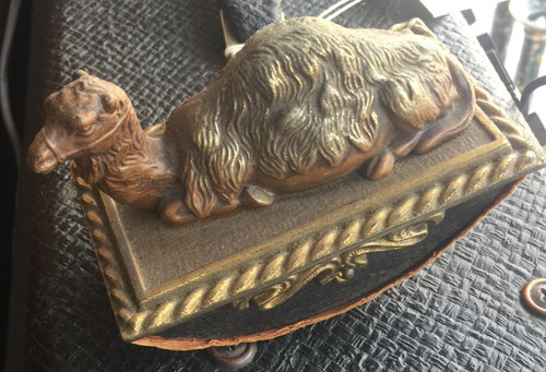 Antique CJO Judd Co. Bronze Figural Victorian Camel Ink Blotter Egyptian Revival