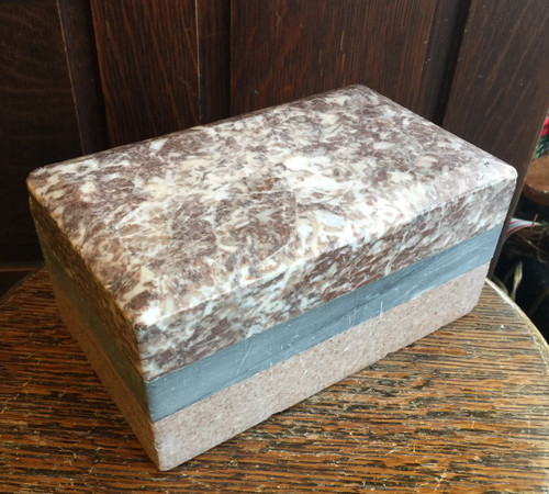 Antique 1800's DoorStop Marble Specimen Grand Tour Europe Italy Victorian 3 Row
