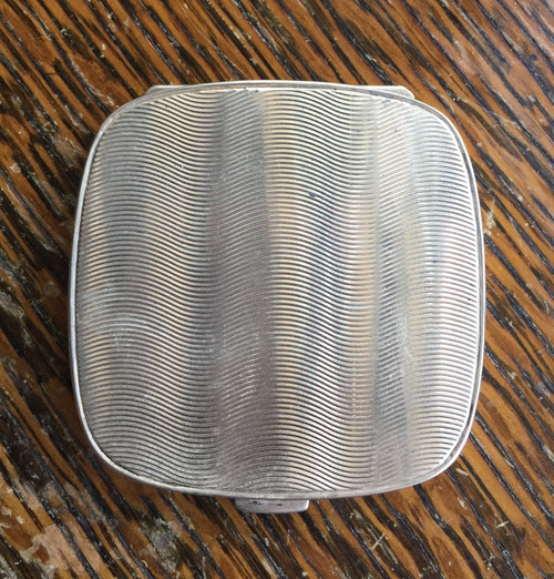 Antique Deco Tiffany & Co Sterling Optical illusion Compact Franz Johann Germany