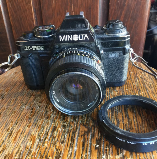 Vintage Minolta X-700 Camera & 28mm f2 MD Fast Manual Focus Lens - Made in Japan