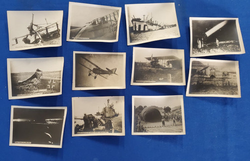 World War I Planes & Ships Lot (11) Souvenir Card Photographs Ca 1914-1918 WW I