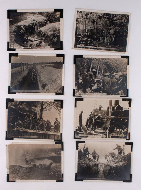 World War I German Artillery and Infantry Soldiers Photo Lot (20) Photographs Ca 1914-1918
