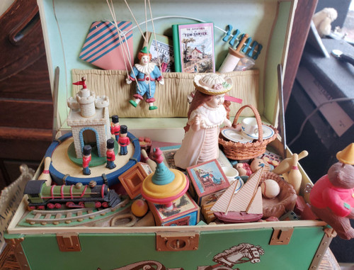 "Vintage Enesco ""Toy Symphony"" Toy Box Music Box Original Made in Macao 1986"