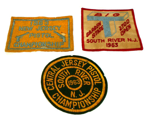Vintage 1963 Sport Gun Pistol Shooting New Jersey Championship Patch Badge Lot 4