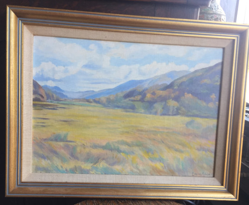 Antique California Tonalism Impressionism Plein Air Oil Painting Mountains Adams