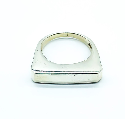 Vintage Modernist Sterling Silver Bar Ring Size 6.25