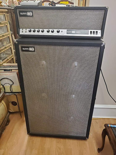 1968 Sunn 1000S 120 Watt Guitar Amp Head 6 x12 Cabinet~Near Mint w Extras LOUD
