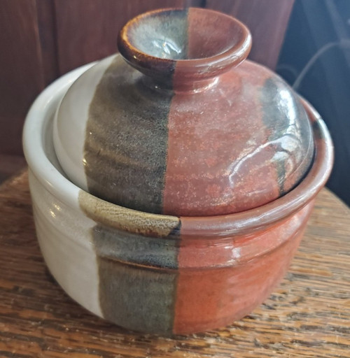 Ken MclEroy Signed Vintage Studio Pottery Lidded Bowl Pot Factory (1930-2002)