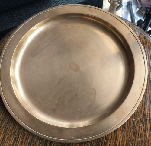 """Antique Tiffany & Co. Bronze 8"""" Plate Dore Tray Salver 21807 - 14096 c. 1900s"""