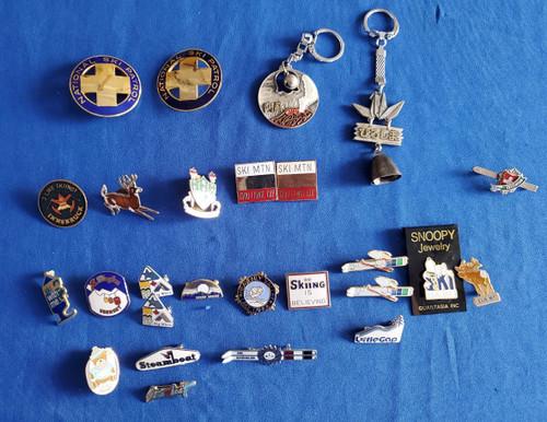 Vintage Ski Pins Lot (28) Steamboat Killington National Ski Patrol Tahoe Japan