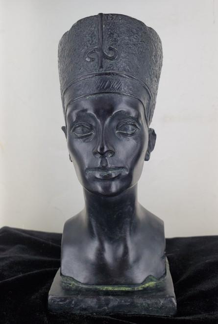 Mid Century Austin Productions Bust Statue Queen Nefertiti Egypt Queen Pharaoh