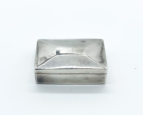 Vintage Mid Century Taxco Mexico Sterling Silver Rectangle Pill Box