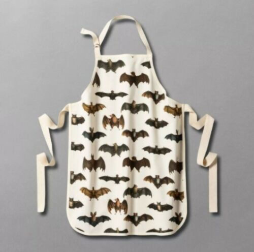 John Derian Winging It Bat Print Cooking Apron Threshold Target Halloween Goth