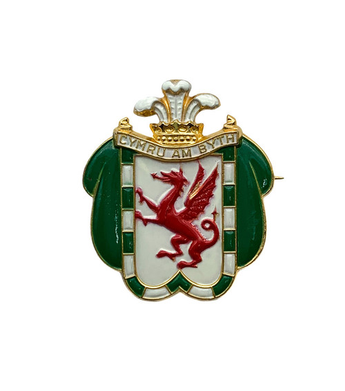 Rare Early WW2 British War Relief Service Welsh Section Donation Badge Brooch