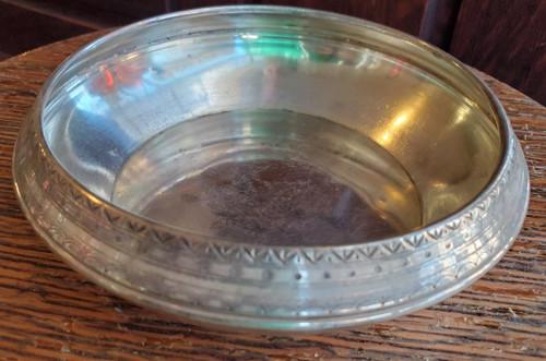 Antique Art Nouveau Silverplate Bowl Vienna Secession Jugendstil Rounded Edges