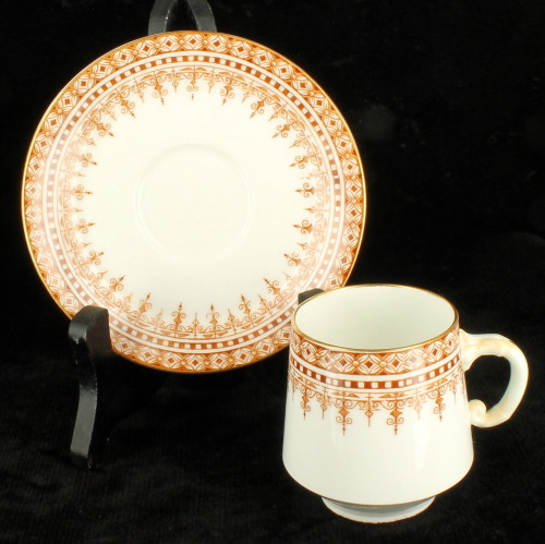 Antique Aesthetic Period Demitasse Cup & Saucer EJDB Bodley HP Staffordshire