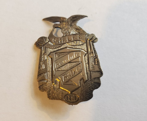 Antique RARE Victorian Fraternal Organization Resolute F&DC No 1 Sterling Pin