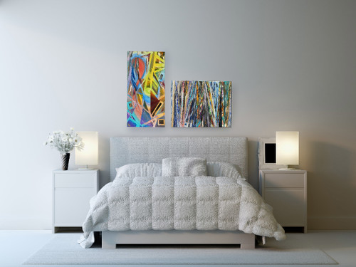 Abstract Oil Painting-Line and Color-Home Office -Emerging Artist Matthew Harlan