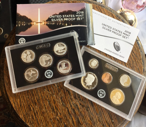 2018-S San Francisco Mint Silver Reverse 10 Coin Proof Set w/ OGP & COA - Newer