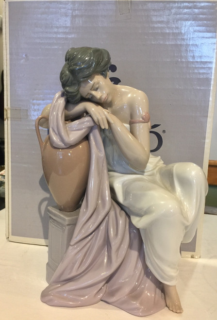 "Rare Vintage Lladro ""Lost in Dreams"" Figurine #06313 Retired Glazed Finish W Box"