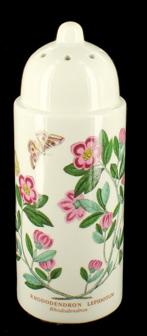 Portmeirion Botanic Powdered Sugar Sifter Shaker Rhododendron Flowers Butterfly