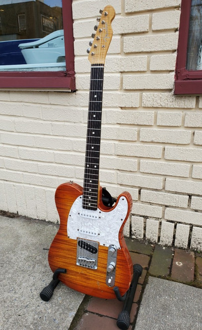 1996 Fender Sunburst FotoFlame Telecaster 50th Anniversary Model~ MIJ Guitar
