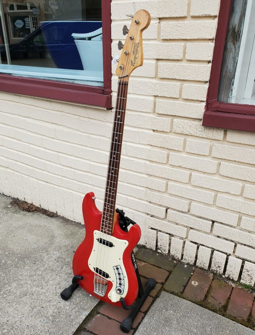 Vintage 1964-1965 Hagstrom Futurama Bass II Red~Ex Tom Keifer of Cinderella Fame