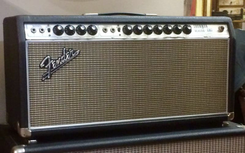 Vintage 1968 Fender Showman Reverb TFL 5000D Silver Face Drip Edge Amp Head Foot