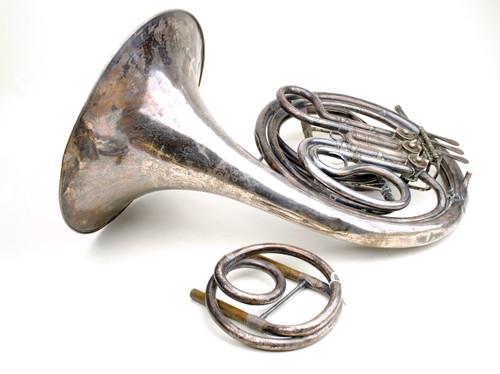 Antique French Horn Ed KRUSPE Single F Model 4029 E-flat US Quarter Master Corps