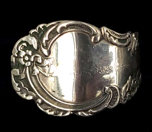 Vintage Mid Century Sterling Silver Recycled Spoon Pretty Silverwork Ring Sz 13