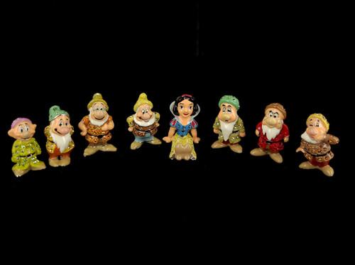 Disney Arribas Brothers Swarovski Snow White &The 7 Dwarfs Figurine Set No Boxes