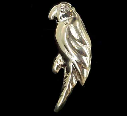 """Vintage Taxco Mexico Sterling Silver Cute Parrot Bird Brooch Pin 3"""""""
