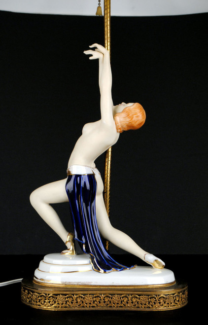 Antique Deco Goldscheider Era Porcelain Lady Dancer Figurines Royal Dux Shades