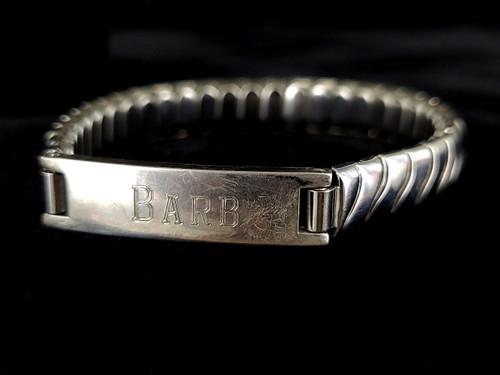 """Vintage Sterling Silver Steel Kestenmade """"Barb"""" Expansion Stretch Bracelet"""