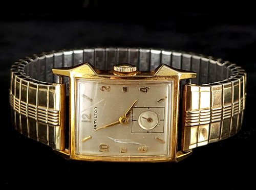Vintage Hamilton 10k Yellow Gold Filled Stretch Expansion Watch Sold As Is