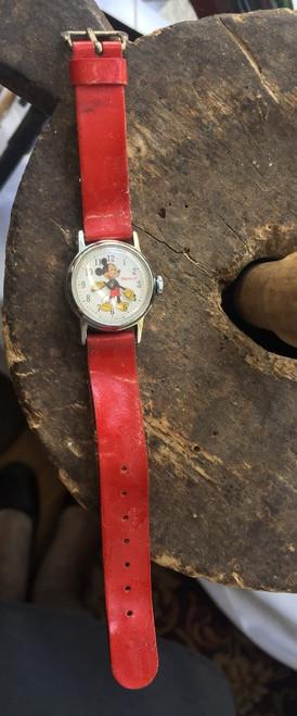 Vintage Ingersoll Mickey Mouse Walt Disney Productions Wristwatch