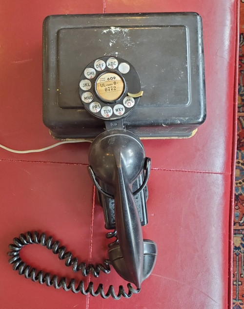 Vintage Western Electric Telephone 211 Space Saver Rotary Dial 43A F1 & 634A  Ringer Box