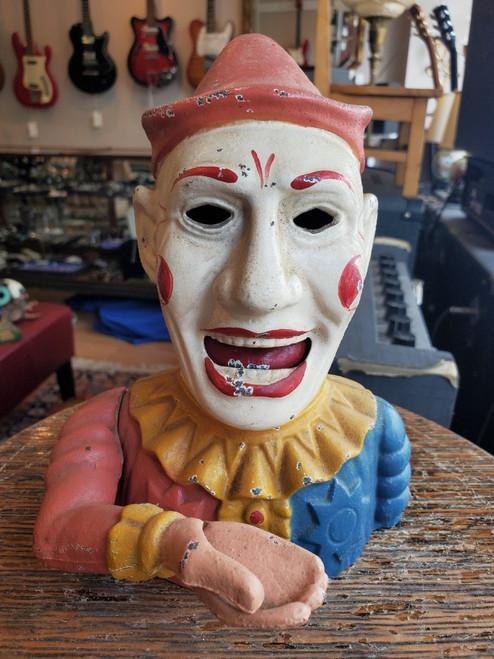 Vintage Humpty Dumpty Clown Jester Book of Knowledge 1950s WORKS w Stopper