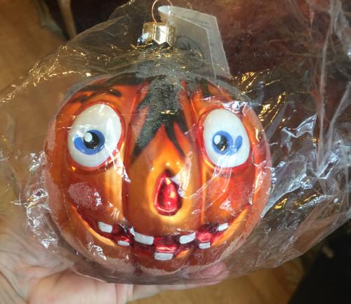 Christopher RADKO Halloween Ornament Jack O' Lantern 1997 Retired FULL SIZE 5x5