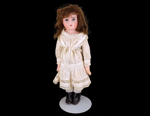 "Antique Kestner? 14"" Bisque Doll Ball Jointed Kid Circle symbol 14/0 Germany"