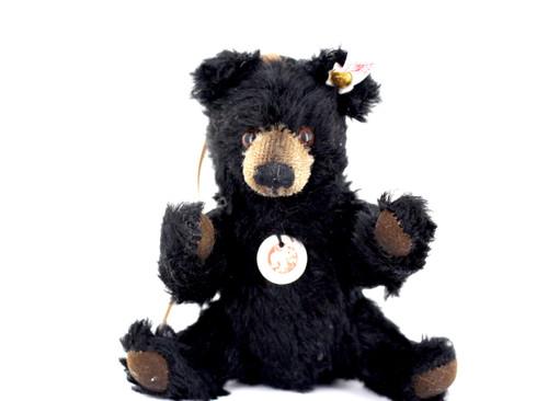 "Cute Steiff Mohair Jointed Black Bear ""Winnipeg"" -Christopher Robin- Ornament"