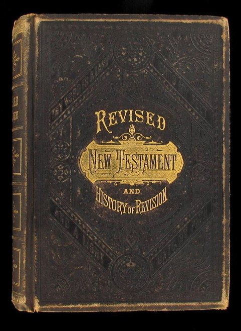 Revised New Testament & History Of Revision  Bible 1881 Illustrated Book Leather